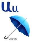 Bokstav U för paraply vektor illustrationer