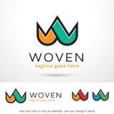 Bokstav W Logo Template Design Vector Royaltyfria Bilder
