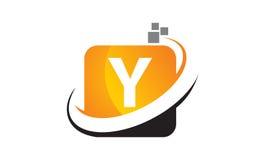 Bokstav Y för teknologirörelsesynergi Royaltyfri Bild