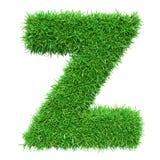 Bokstav Z för grönt gräs Royaltyfri Bild