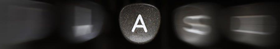 Bokstaven av alfabetet på engelska A Arkivbilder