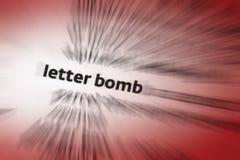 Bokstaven bombarderar Arkivbilder