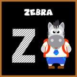 Bokstaven Z för engelskt alfabet Arkivbild
