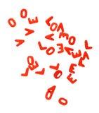 bokstavsförälskelse Arkivfoto