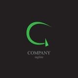 BokstavsG-logoen - ett symbol av din affär Arkivfoton