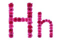 BokstavsH av rosor Fotografering för Bildbyråer