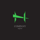 BokstavsH-logoen - ett symbol av din affär Royaltyfri Foto