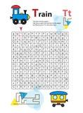Bokstavslabyrint T Denna arbetssedel hjälper ungar att känna igen och namnge huvudstad och små bokstäver Ungar övar också att tän vektor illustrationer