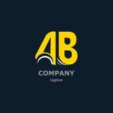Bokstavslogo för företagsnamnet Arkivbilder