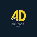 Bokstavslogo för företagsnamnet Arkivbild