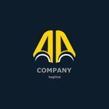 Bokstavslogo för företagsnamnet Royaltyfri Bild