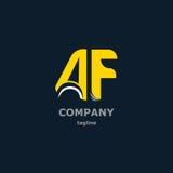 Bokstavslogo för företagsnamnet Arkivfoton
