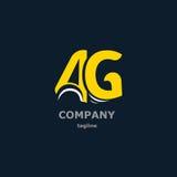 Bokstavslogo för företagsnamnet Arkivfoto