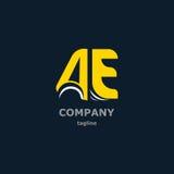 Bokstavslogo för företagsnamnet Fotografering för Bildbyråer