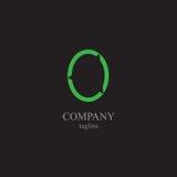 Bokstavsnolla-logoen - ett symbol av din affär Arkivfoton