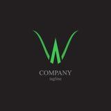 BokstavsW-logoen - ett symbol av din affär Royaltyfria Bilder