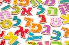 Bokstäver för hebréiskt alfabet Arkivfoto