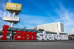Bokstäverna Amsterdam Arkivfoto