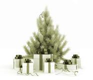 boksuje bożych narodzeń prezenta drzewa Fotografia Stock