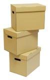 boksuje karton rękojeści trzy Zdjęcie Stock