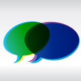 boksuje kolorowego dialog Zdjęcie Royalty Free