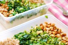 boksuje posiłek pakujących warzywa Fotografia Royalty Free