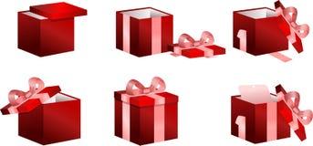 boksuje prezenty ustawiających Zdjęcia Royalty Free