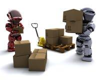 boksuje robot wysyłkę ilustracja wektor