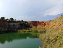 Boksyt jezioro w Otranto obraz royalty free
