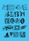 boktema vektor illustrationer