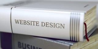 Boktitel på ryggen - Websitedesign 3d arkivbild
