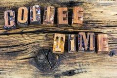 Boktryck för kaffetidavbrott Royaltyfri Foto