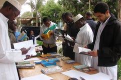 Bokutställning i Nairobi Kenya Arkivfoton