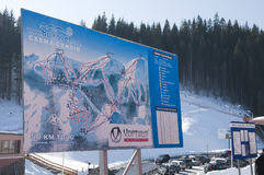 Bokuvel ośrodek narciarski Fotografia Royalty Free