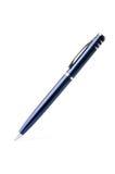 Bolígrafo azul Foto de archivo libre de regalías