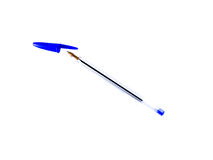 Bolígrafo azul Fotografía de archivo