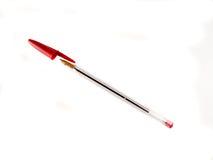 Bolígrafo rojo Fotografía de archivo libre de regalías