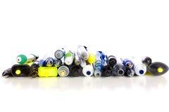 Bolígrafos y etiquetas de plástico Foto de archivo