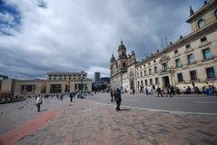 Bolívar van het plein - Bogota Stock Foto