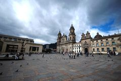 Bolívar van het plein - Bogota Stock Foto's