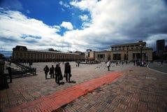 Bolívar van het plein - Bogota Stock Fotografie
