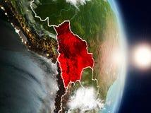 Bolívia durante o nascer do sol Imagem de Stock Royalty Free