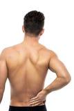 bolącego plecy łóżka bolący target759_0_ wizerunku uraz target762_0_ męskiego mężczyzna mięśnia szyi bólu stronniczo surowego ram Zdjęcia Royalty Free