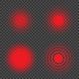 Bolący miejsce Bólowy okrąg Set czerwień dzwoni, symbol ból zdjęcia royalty free