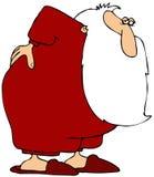 bolący tylni Santas ilustracji