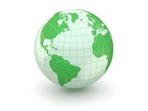 Bol. Aarde en wereldkaart. 3d Royalty-vrije Stock Fotografie