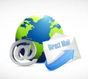 bol bij symbool en direct mail vector illustratie