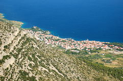 Spectacular view from Vidova Gora on Bol on Brac i Royalty Free Stock Photography