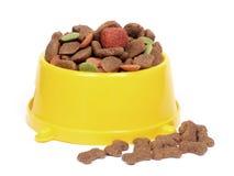 Bol d'aliments pour animaux familiers Photos stock