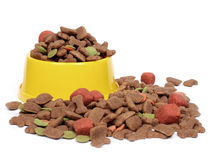 Bol d'aliments pour animaux familiers Photographie stock